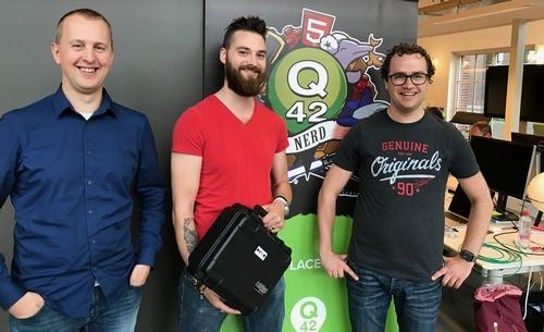 Marc van 't Veer en Robert Gorter van Polteq en Mathijs Kadijk van Q42