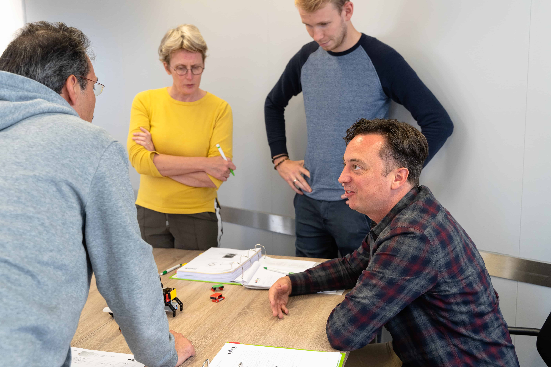Yvo Kieviet tijdens de module 'Context Driven Testverbetering' van het traineeship