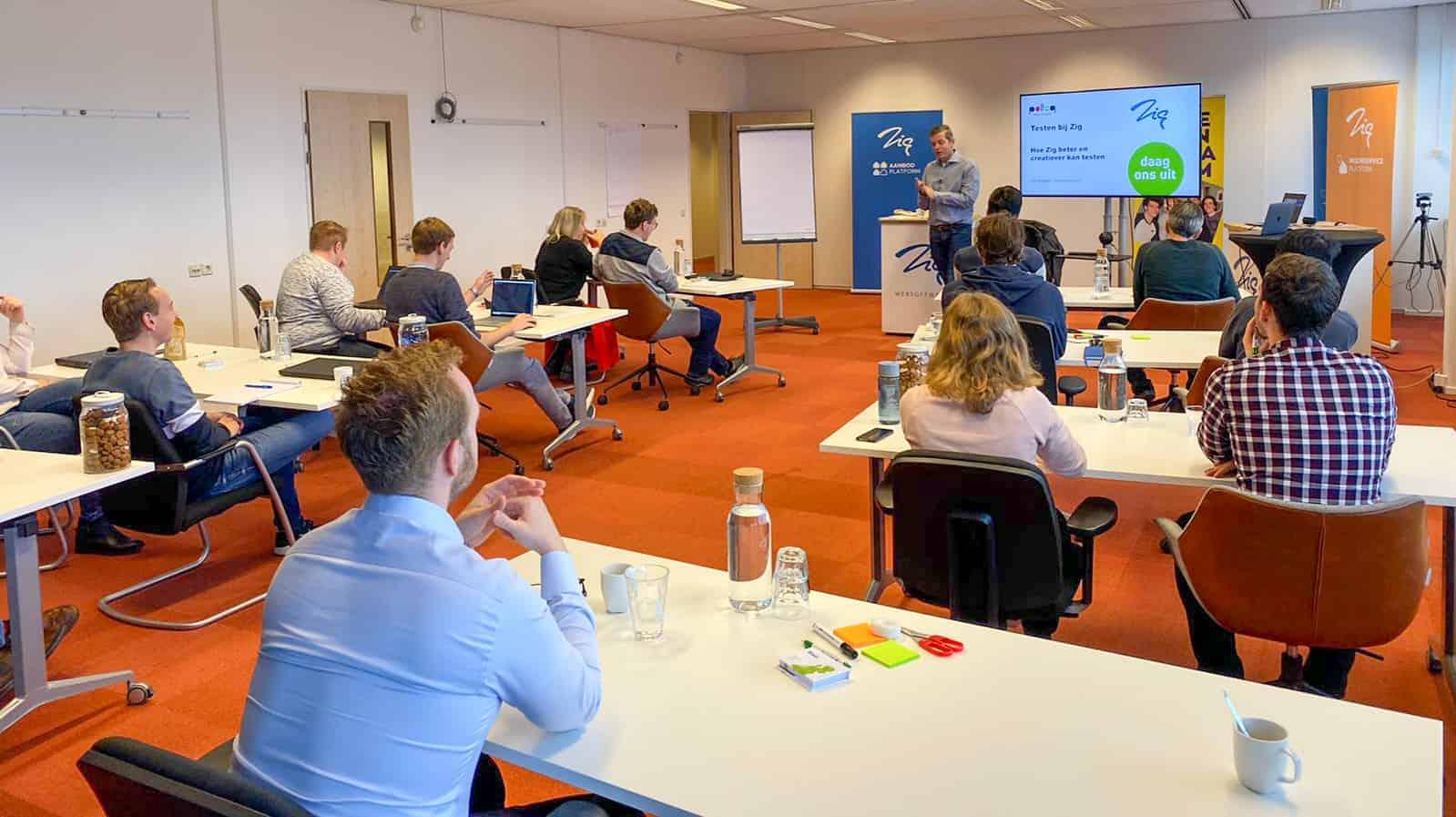 Onlangs heeft Polteq bij haar klant Zig Websoftware, een workshop gehouden over de plaats van testen in de context van hun software-ontwikkelproces.