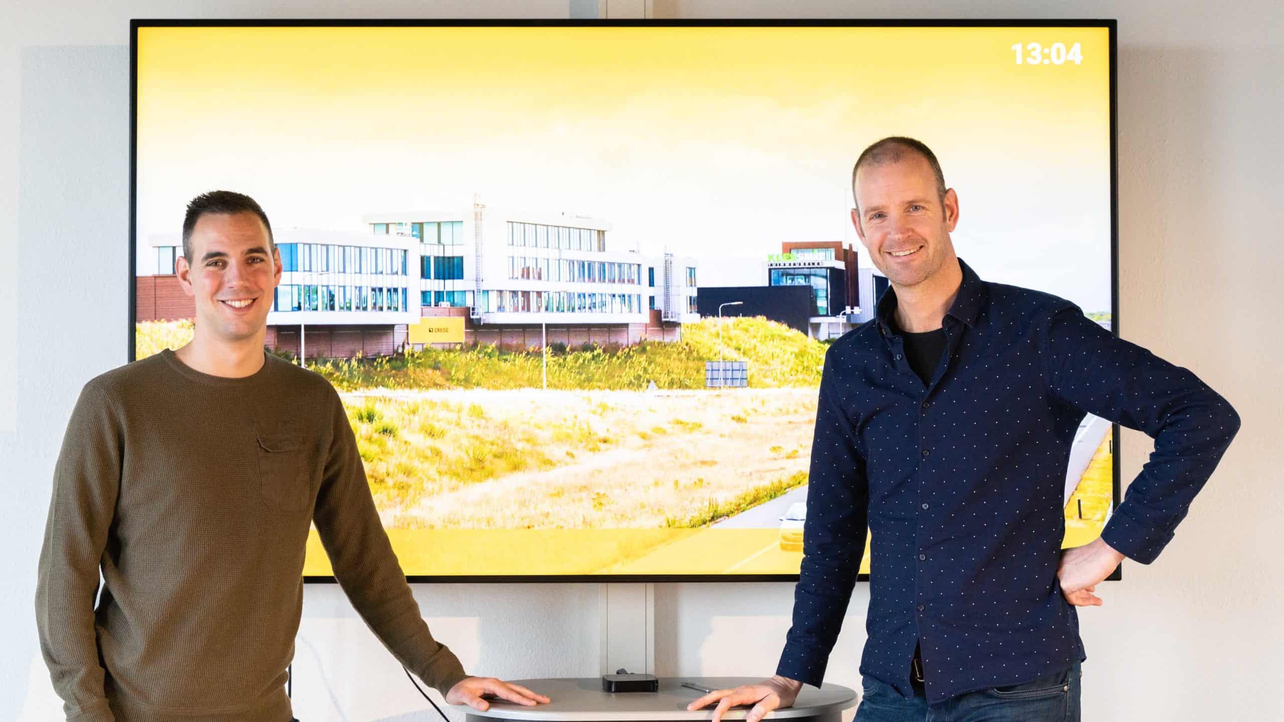 Bjorn Geerding, testengineer bij Polteq en Jeroen van Dijk, echnical Consultant bij Enrise