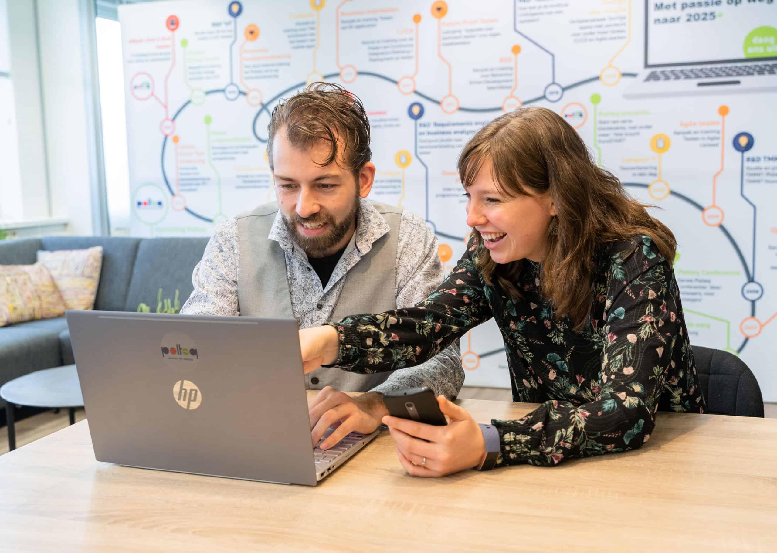 """Peter van der Woude tijdens het traineeship Software Tester van Polteq. """"Polteq heeft mijn verwachtingen meer dan waargemaakt."""""""